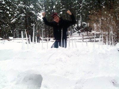 Igloo / Snow Fort date idea