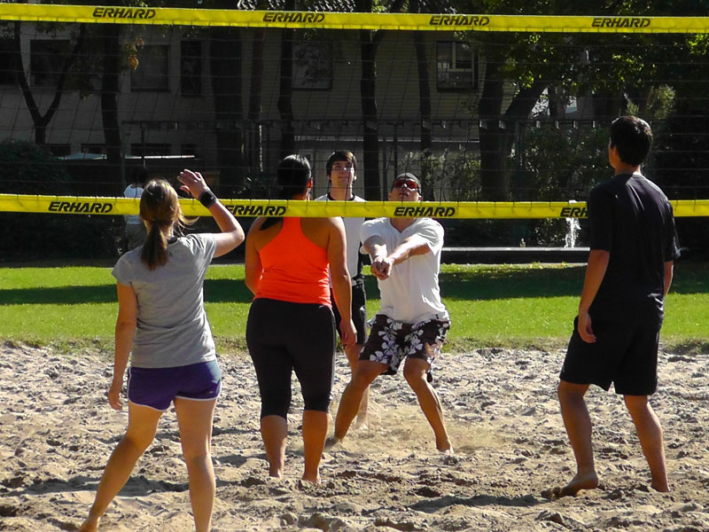volleyball (playing)
