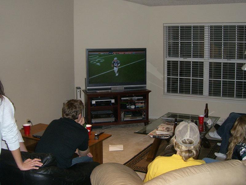 Football (watching on Tv)