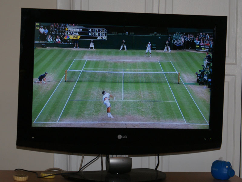 tennis (watching on tv)