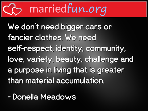 Love Quote by Donella Meadows - We don't need bigger cars or fancier ...