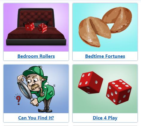 Bedroom and foreplay games